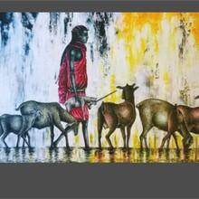 Vernissage // Exposition des peintures de Slim Juma