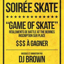 """Soirée skate """"Game of Skate"""""""